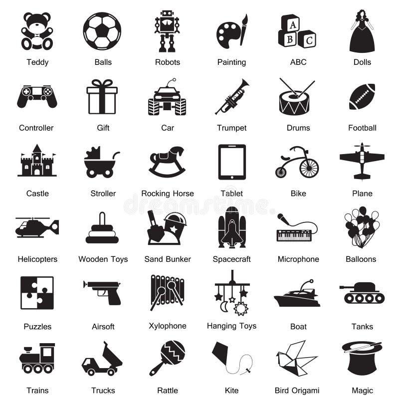 Bawi się ikona set ilustracji