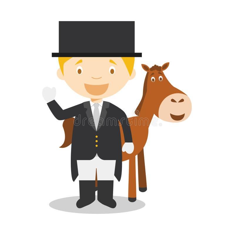 Bawi się kreskówek wektorowe ilustracje: Equestrian Dressage royalty ilustracja