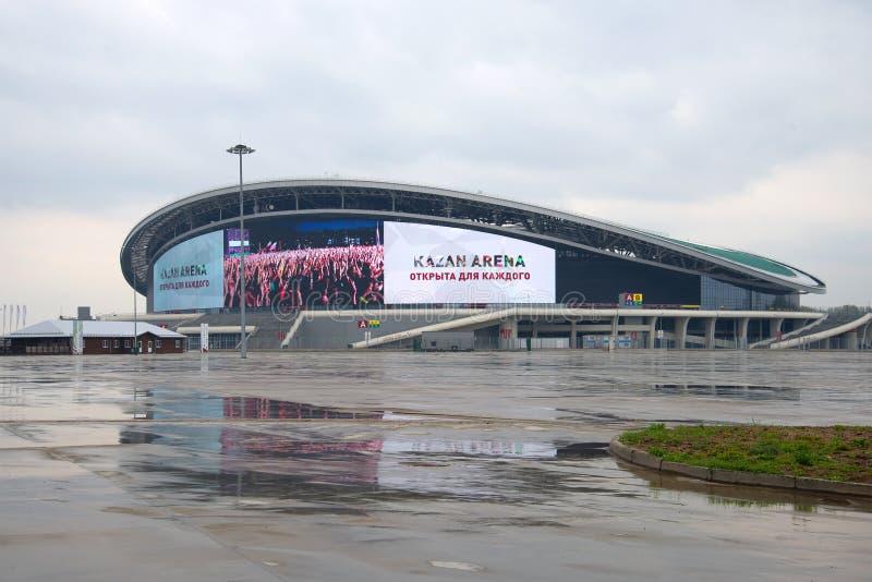 Bawi się powikłaną Kazan arenę, może deszczowy dzień Kazan, Tatarstan zdjęcia stock