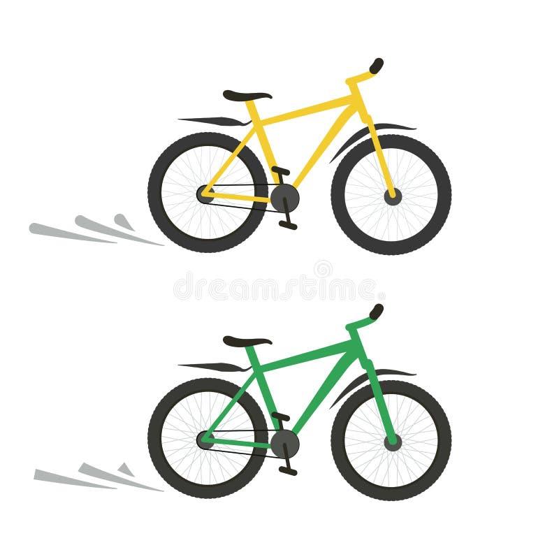 Bawi si? rower ikony p?aski wektorowy ilustracyjny kolor ? ilustracji