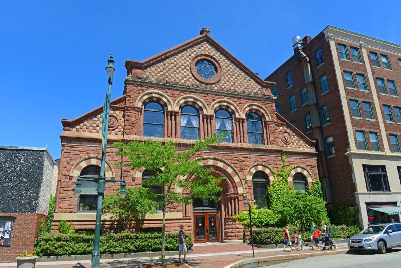 Baxter Building auf Kongress-Straße, Portland, Maine, USA stockbild
