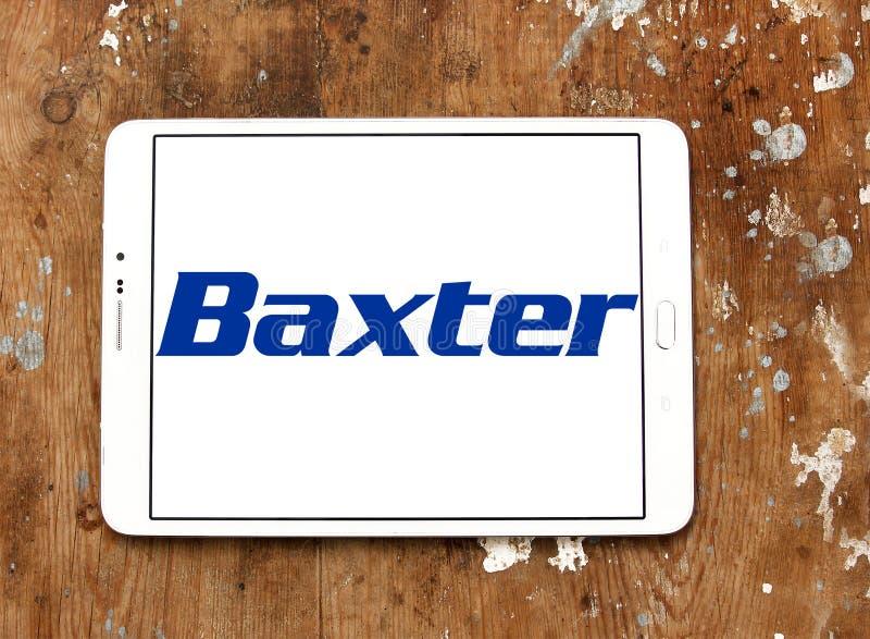 Baxter International-Firmenlogo stockfotos