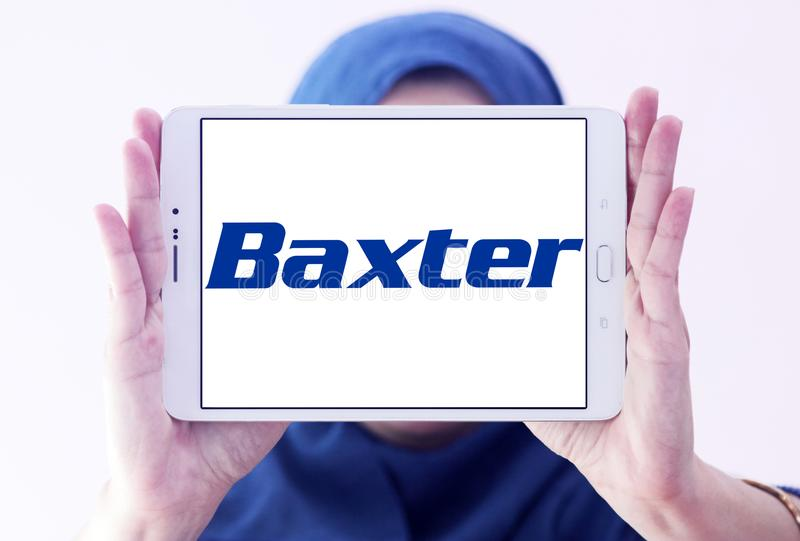 Baxter International-Firmenlogo stockbild