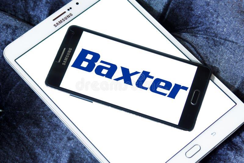 Baxter International-Firmenlogo lizenzfreies stockfoto