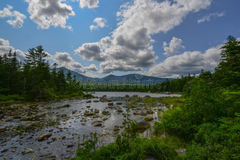 Millinocket Lake, Baxter State Park, Maine royalty free stock images