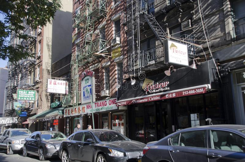 Baxter Street New York City lizenzfreies stockfoto