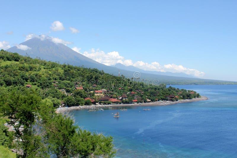 Bay in Amed, Bali stock image