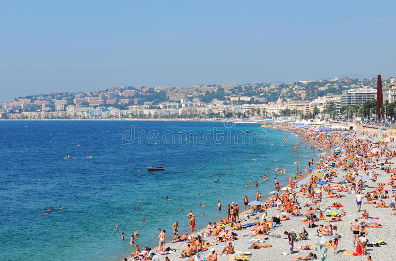 Bay of Angels, Nice (France) royalty free stock image