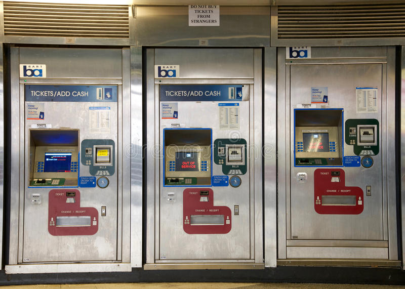 Bay Area Rapid Transit, BART machines, San Francisco. San Francisco, CA - March 01, 2017: BART machines, Powell Street Station. Bay Area Rapid Transit BART stock photos