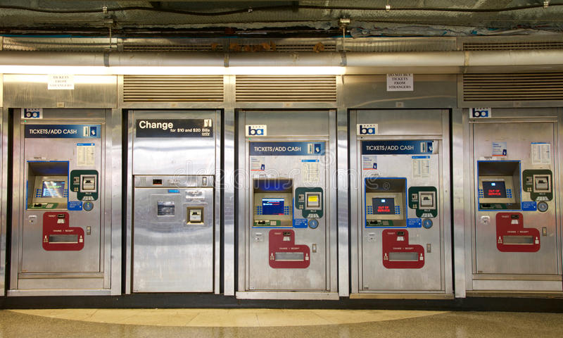 Bay Area Rapid Transit, BART machines, San Francisco. San Francisco, CA - March 01, 2017: BART machines, Powell Street Station. Bay Area Rapid Transit BART stock photography