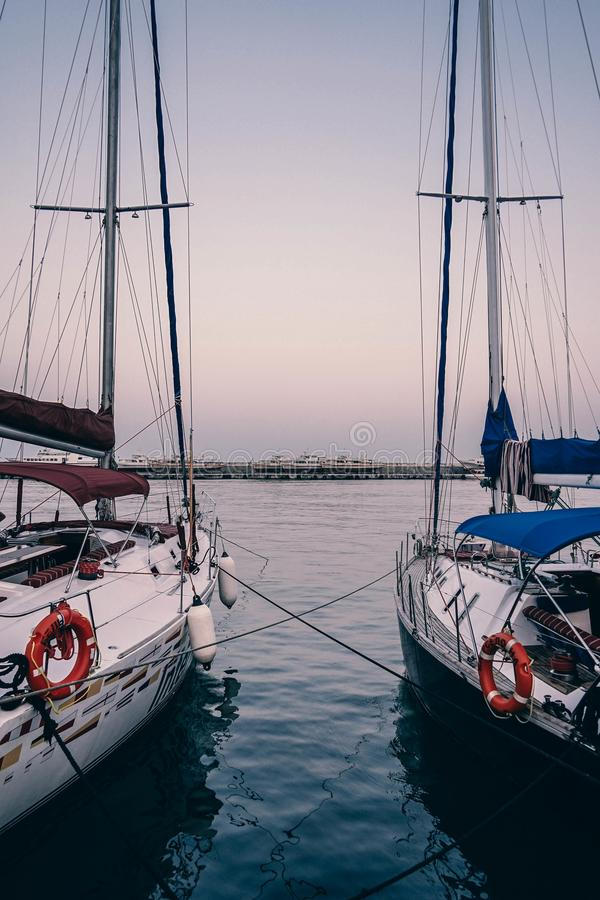 Bay, Black, Boats stock photography