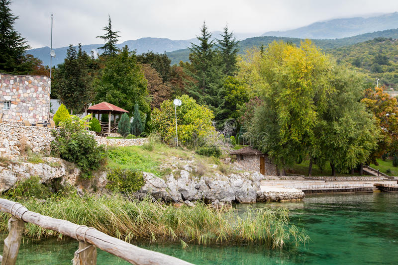 The Bay of the Bones, Macedonia. The Bay of the Bones, the reconstructed site of a prehistoric settlement at Lake Ohrid, Republic of Macedonia (FYROM royalty free stock photos