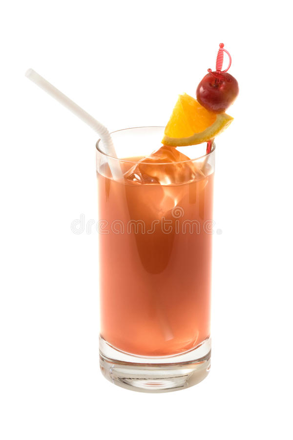 Alcoholic Drink With Cherry