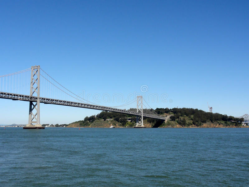 Download Bay Bridge And Bay As Bridge Enters Into Island Stock Image - Image: 22208633