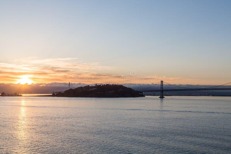 Bay Bridge at Dawn stock photos