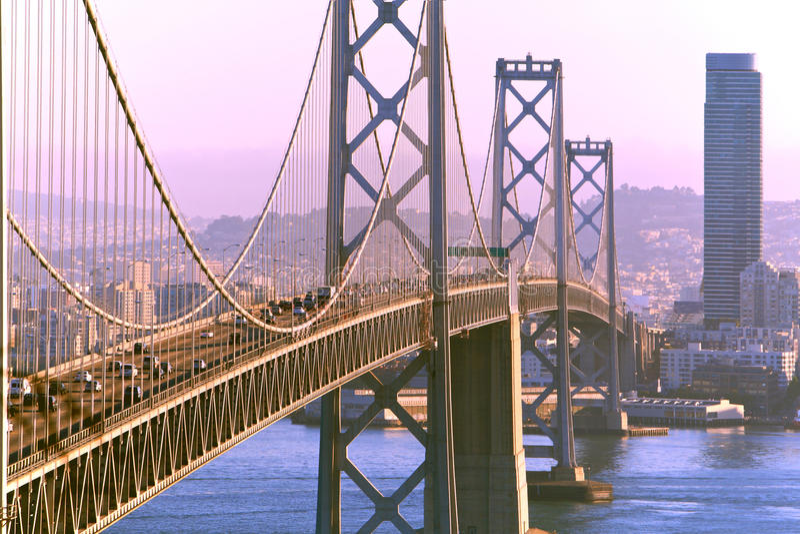 Bay Bridge & San Francisco stock image
