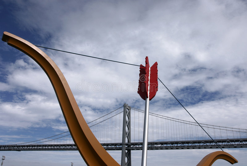 Bay Bridge, San Francisco stock photo