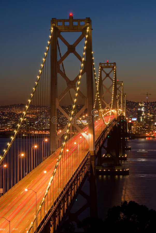 Free Bay Bridge, San Francisco At Sunset Stock Image - 1753931