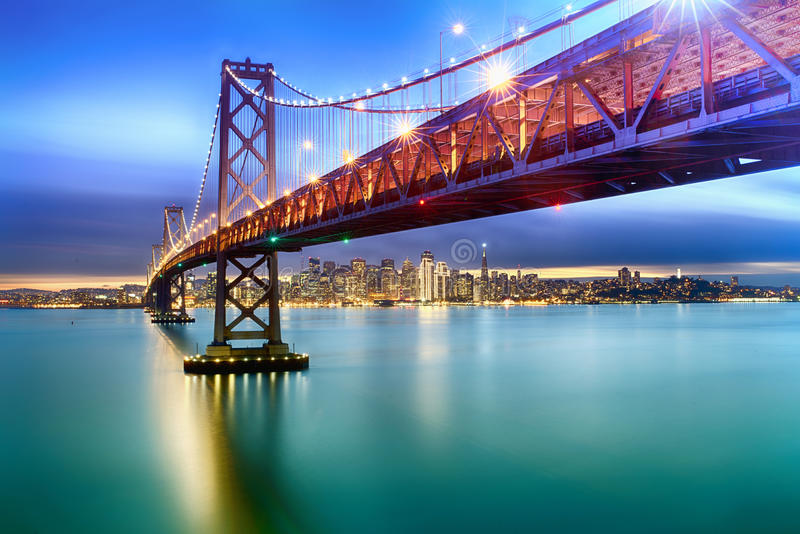 Bay Bridge of San Francisco royalty free stock image