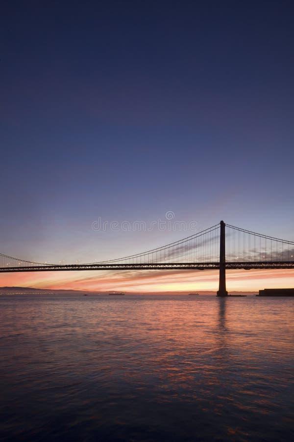 Bay Bridge Sunrise Stock Images