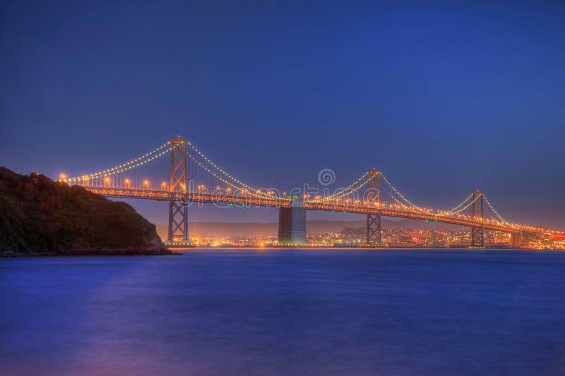 Bay Bridge to San Francisco royalty free stock photography