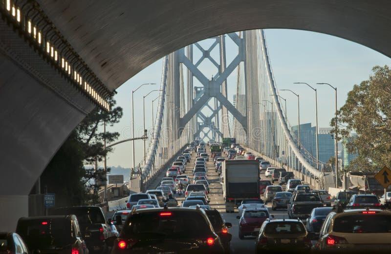 Bay Bridge traffic jam royalty free stock image