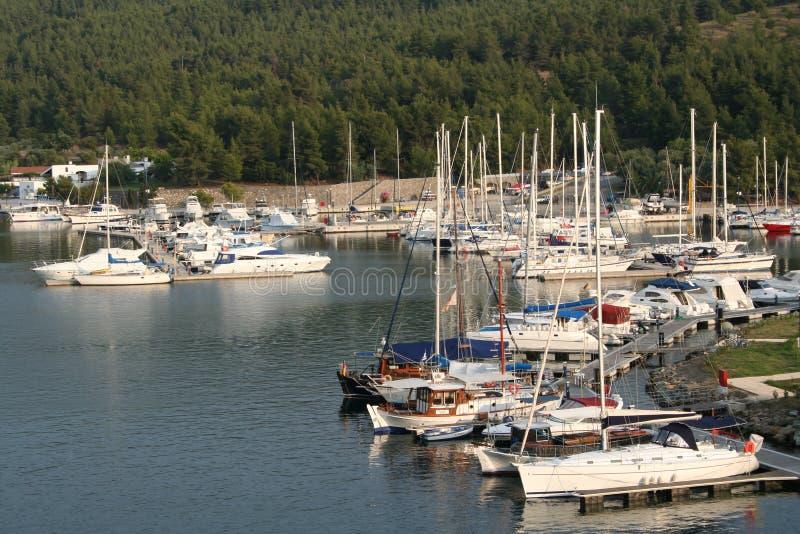 bay carras Greece halkidiki Porto sithonia m zdjęcie stock