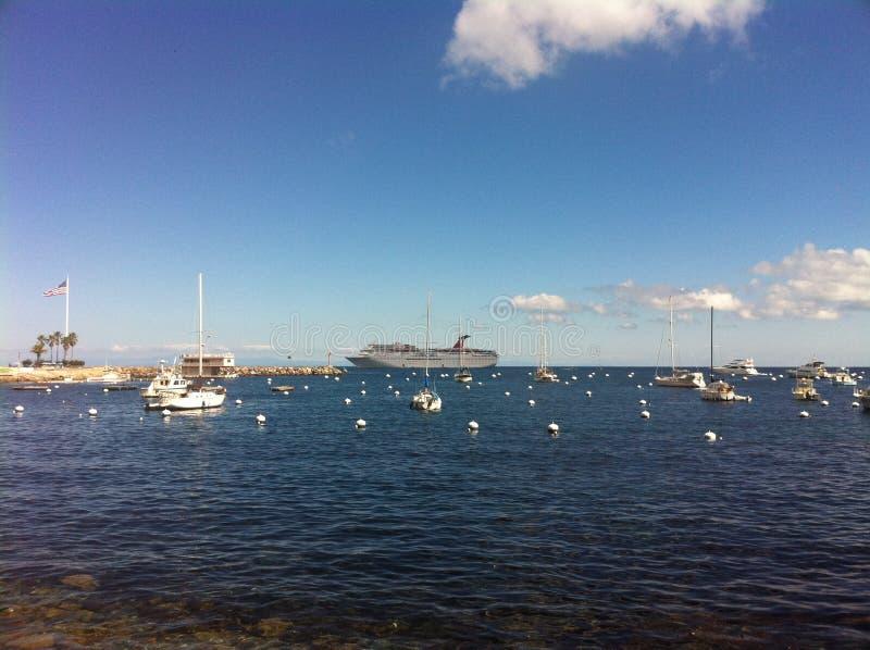 Bay of Catalina Island, California royalty free stock image