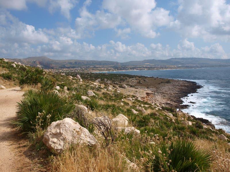 Bay of Cornino, Sicily, Italy royalty free stock photography
