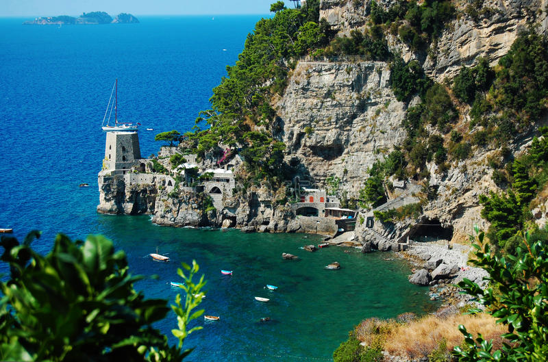 Download A Bay In The Costiera Amalfitana Stock Image - Image: 32233113