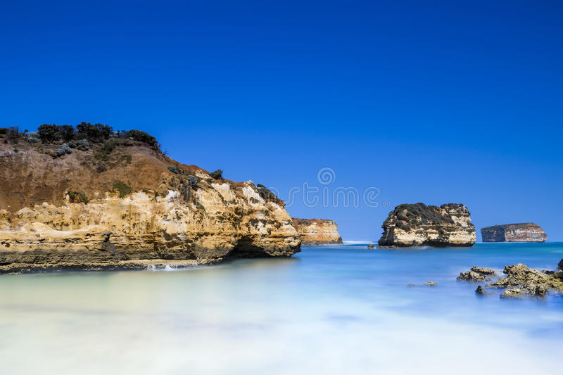 Bay of Coves. The beautiful Bay of Coves on the Great Ocean Roads. One of the great road trips in Australia royalty free stock photo