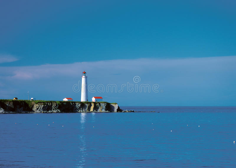 Bay de Gaspe. Lighthouse at the Bay de Gaspe, Quebec royalty free stock photography