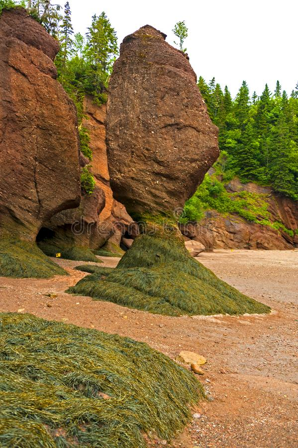 Bay of Fundy, Canada. The Bay of Fundy in Canada with the highest tides on earth is one of the natural wonders of the world stock photo