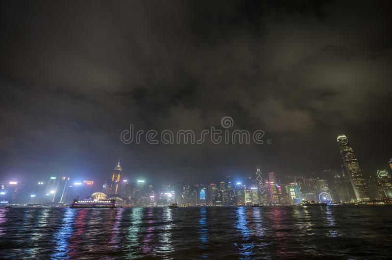Bay of Hong Kong. Port Victory in Hong Kong stock photos