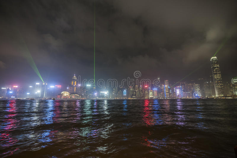 Bay of Hong Kong. Port Victory in Hong Kong royalty free stock image