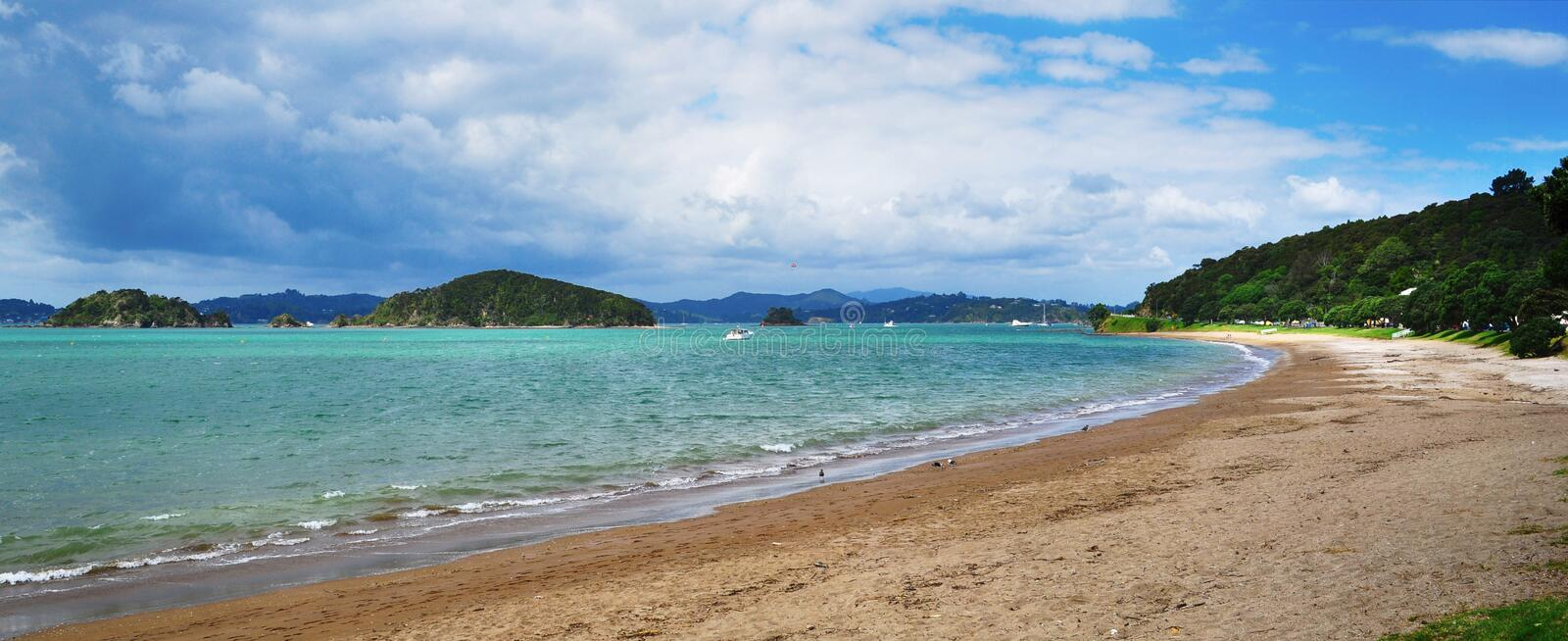 Bay of Islands, New Zealand. Beautiful day in the Bay of Islands, New Zealand royalty free stock photography