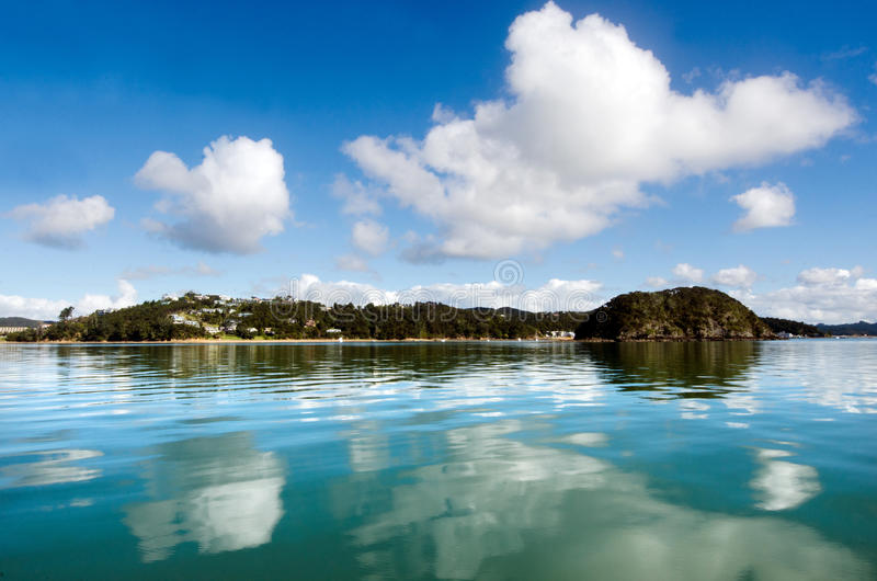 Bay of Islands New Zealand. Landscape view of the Bay of Islands New Zealand stock image
