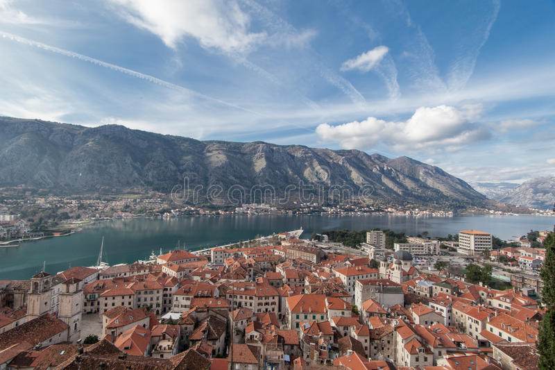 Bay of Kotor, Montenegro. Boka kotorska. royalty free stock images
