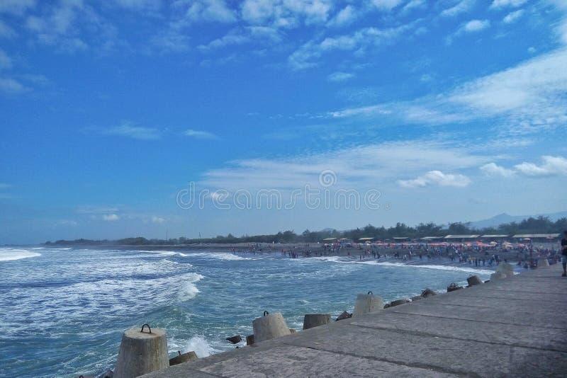 THE BAY. AT KULON PROGO REGION OF YOGYAKARTA INDONESIA royalty free stock photography