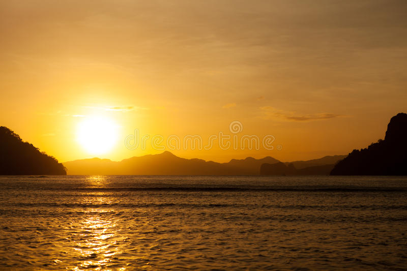 Download Bay landscape stock image. Image of dream, palawan, sundown - 32150051