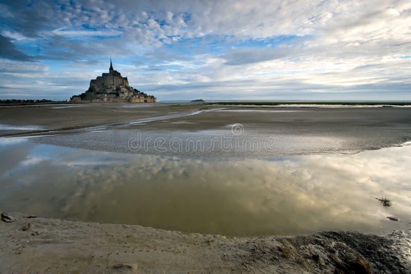 Bay Le Mont St Michel Stock Foto's