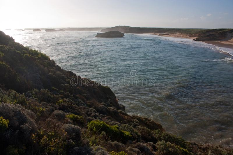 The Bay of Martyrs on the Great Ocean Road in Australia. The Bay of Martyrs on the Great Ocean Road in Victoria in Australia, pacific, port, campbell, sea, park royalty free stock photos