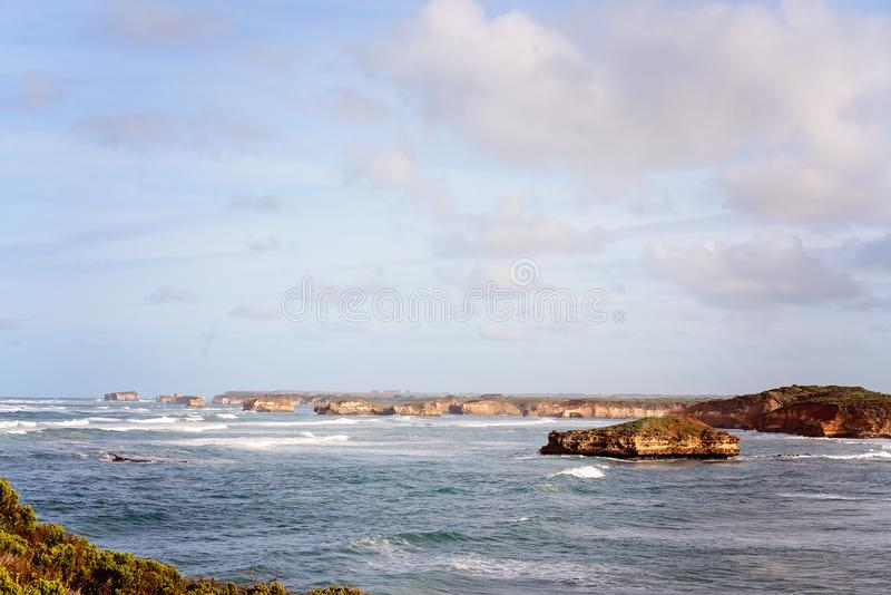 The Bay Of Martyrs On The Great Ocean Road. Victoria, Australia - famous landmark royalty free stock images