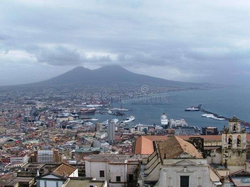 The Bay of Naples stock photography