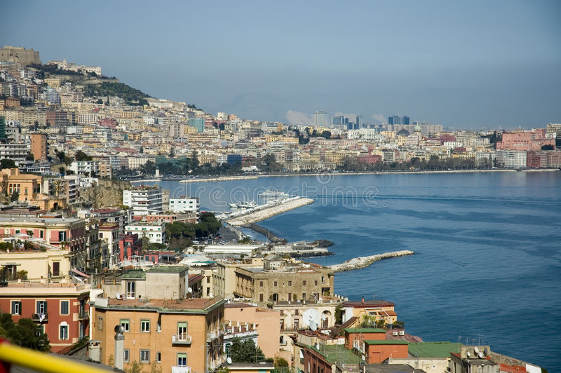 Download Bay of Naples stock image. Image of boat, shore, vesuvious - 668629