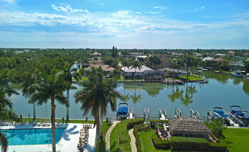 The bay in Naples, Florida royalty free stock image