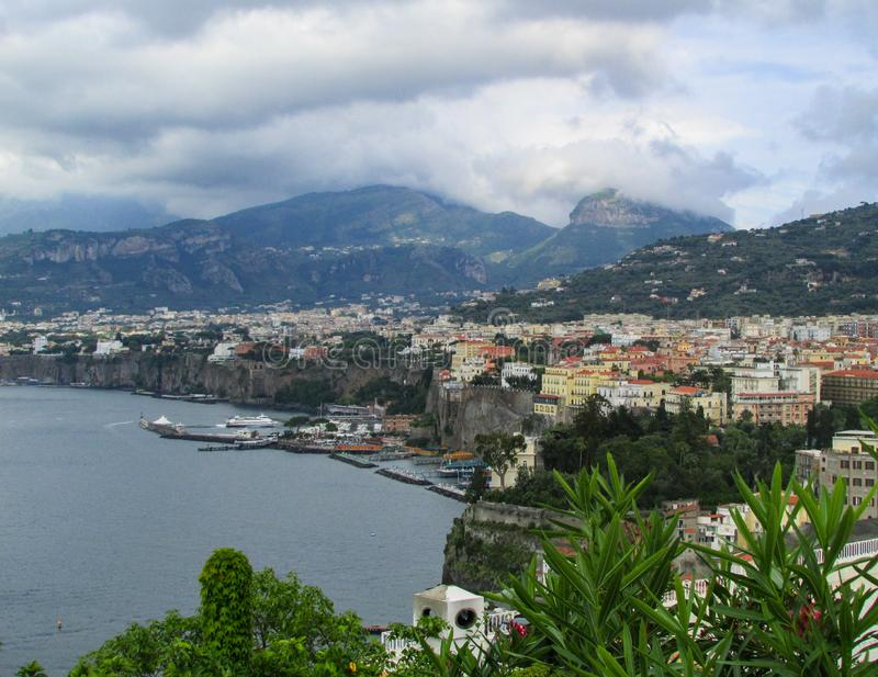 Bay of Naples, Sorrento, Italy stock image