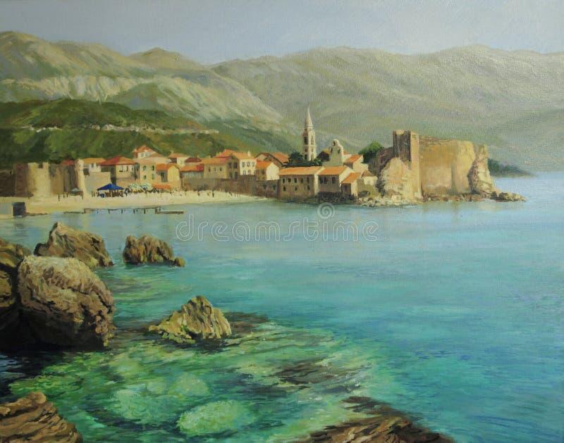 Download Bay near Old Budva stock illustration. Image of ancient - 25446986