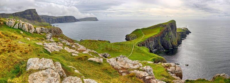 Bay of Neist Point Isle of Skye, Scotland. HDR panorama stock photography