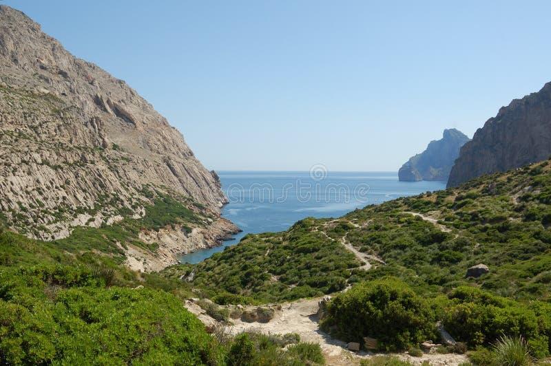 Bay north of pollensa. Cala Boquer a secluded bay near Porto Pollensa royalty free stock photography